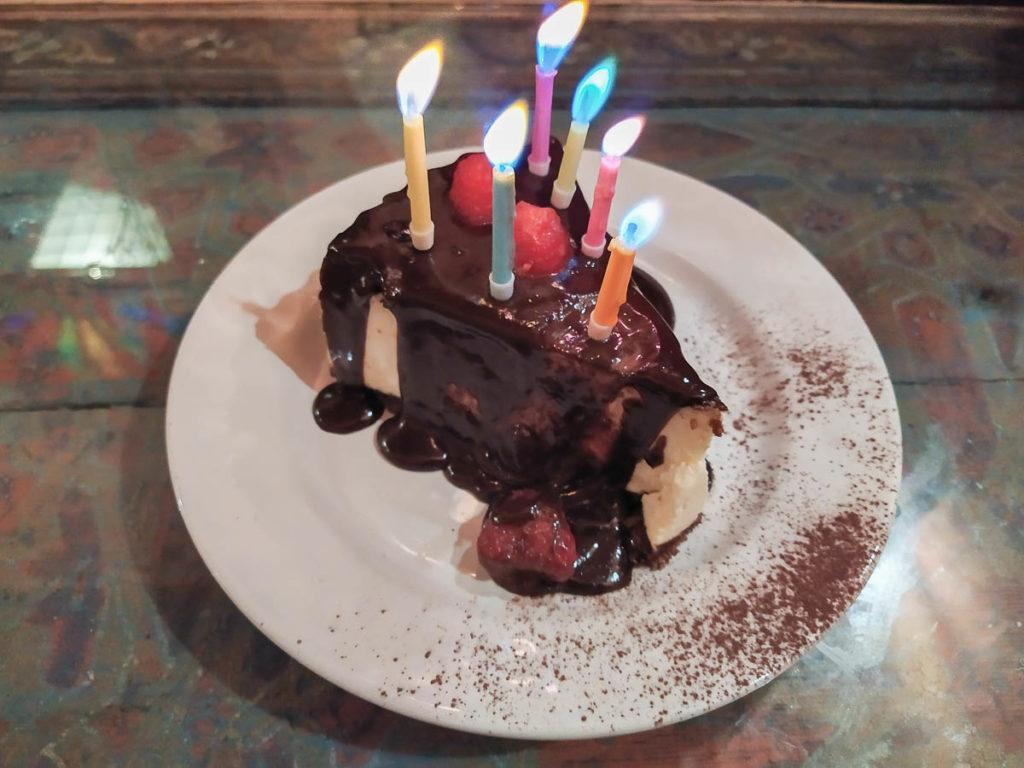 Cheesecake di Cafè Clock a Fes
