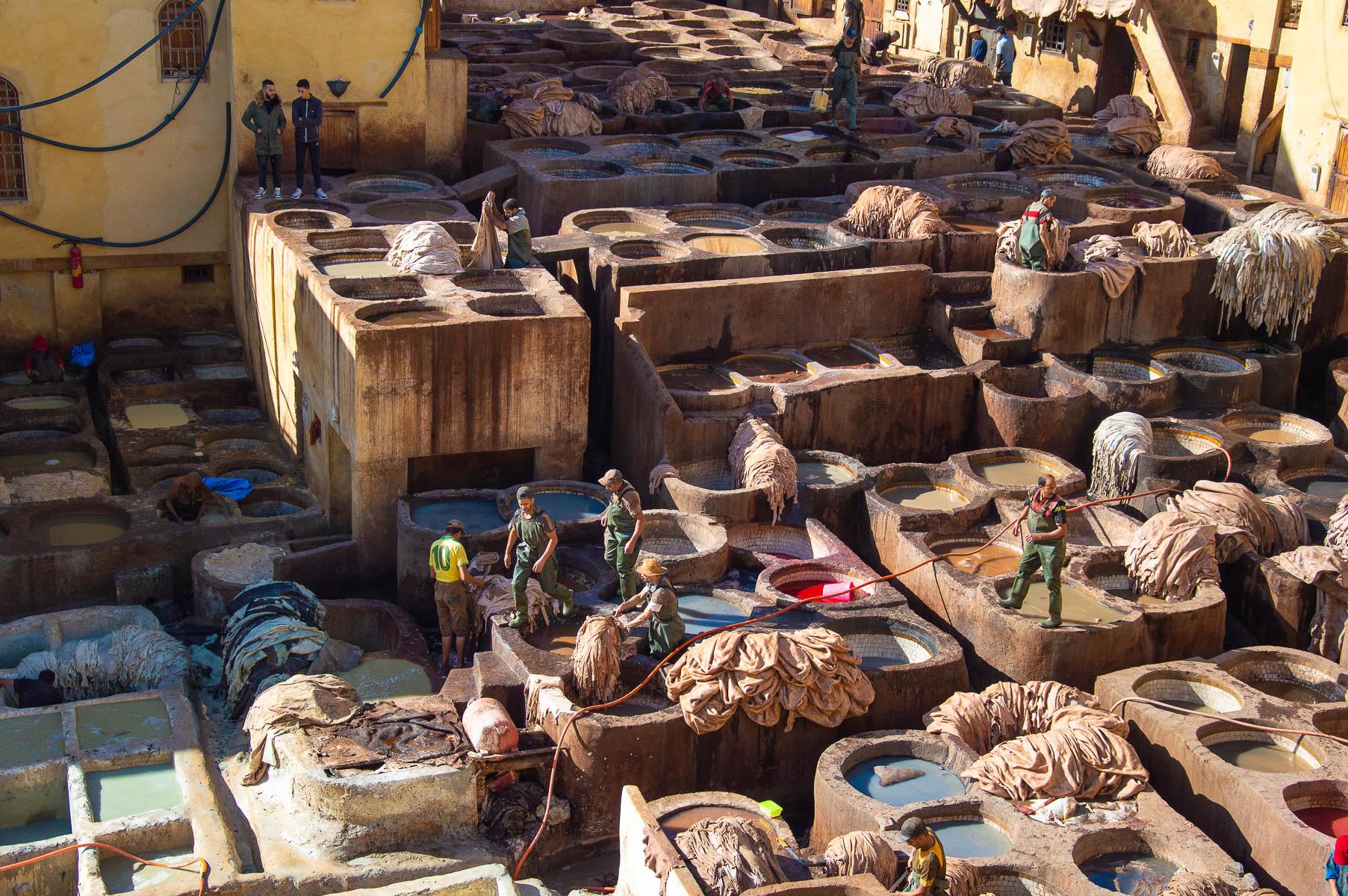 La conceria Chouara della medina di Fes in Marocco