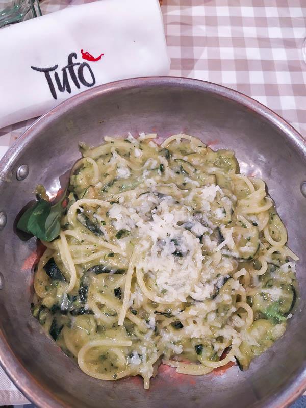 Pasta alla Nerano della trattoria Tufò