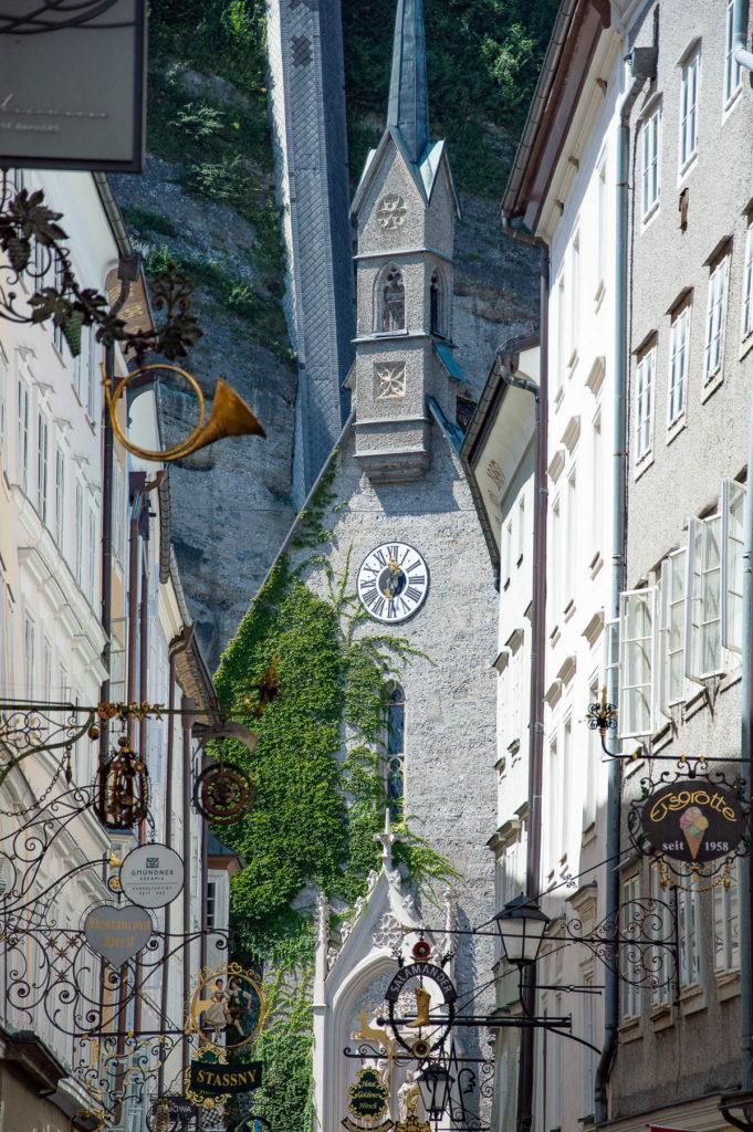 Via Getreidegasse a Salisburgo