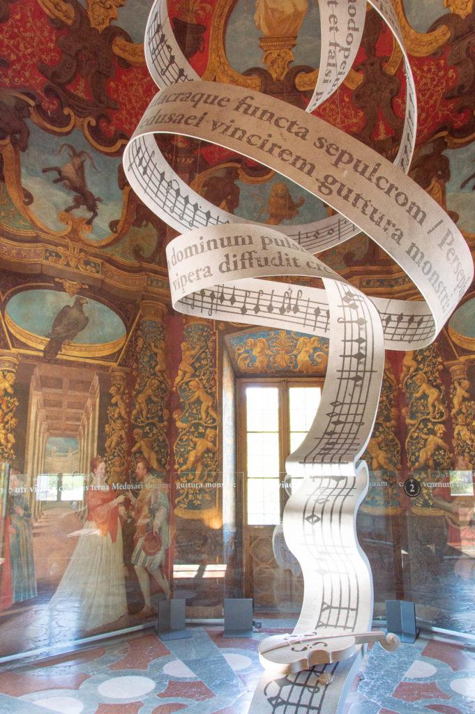 Stanza della musica del Castello Hellbrunn a Salisburgo