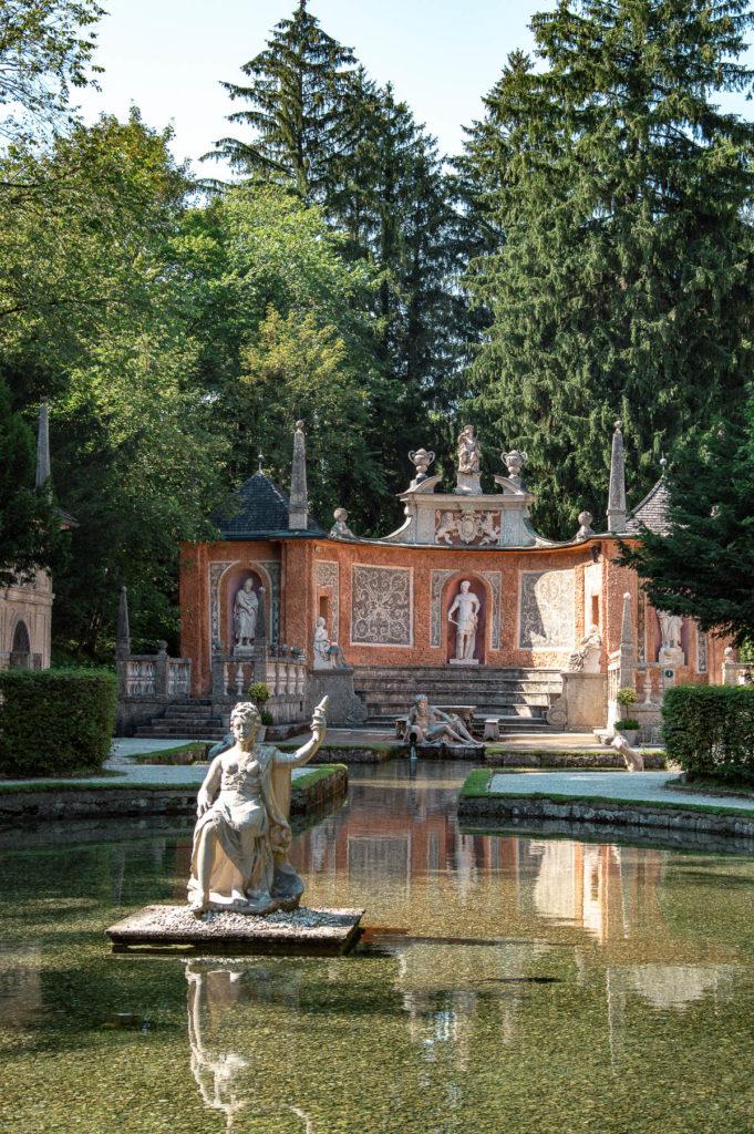 Giardino del castello Hellbrunn a Salisburgo