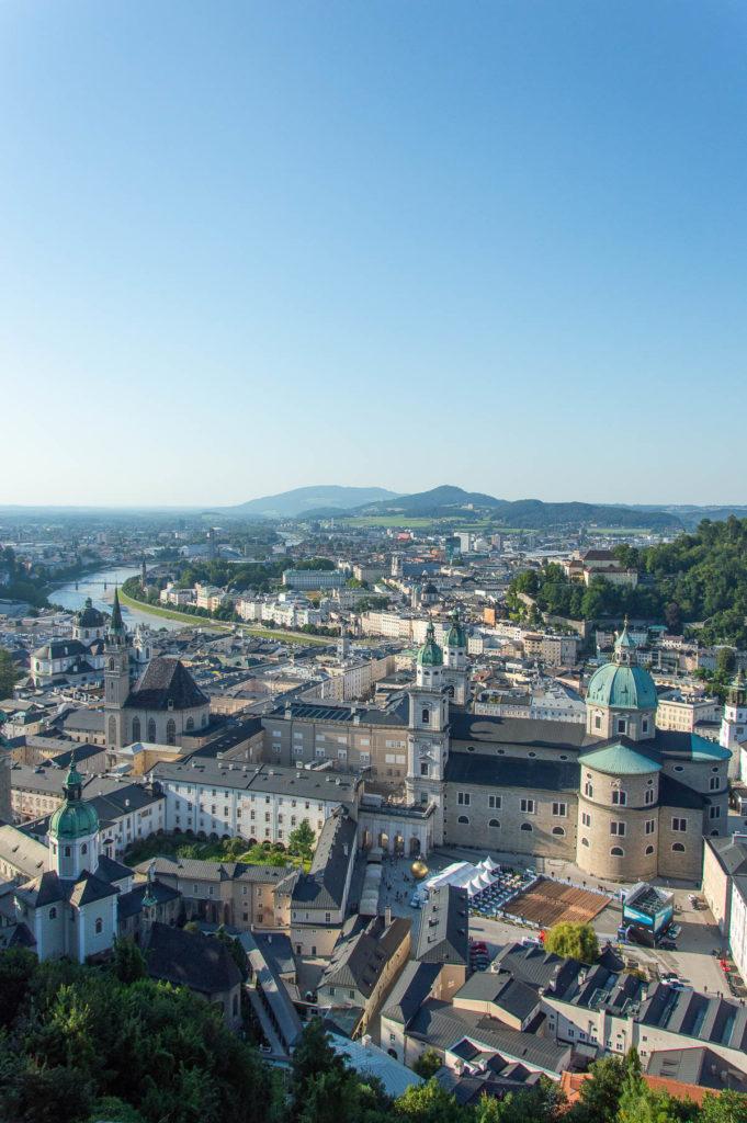 Vista di Salisburgo dalla fortezza Hohensalzburg