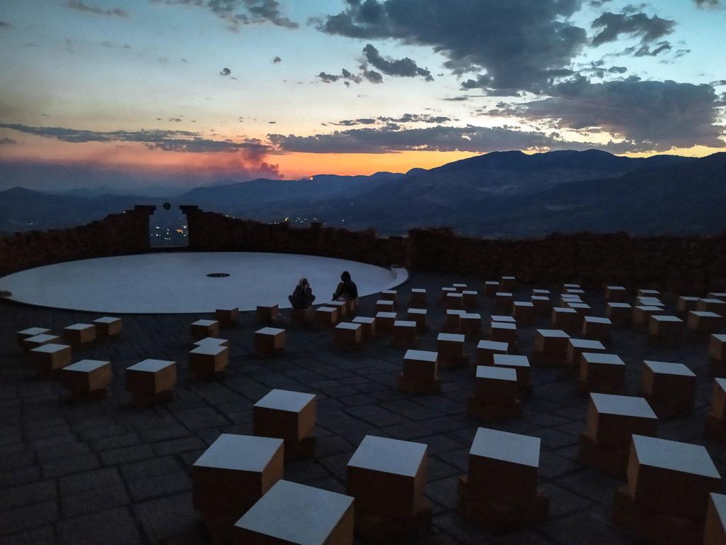 Teatro Andromeda al tramonto