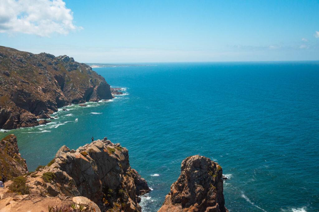 Oceano Atlantico visto da Cabo da Roca in Portogallo